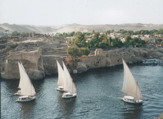 Feluccas at Aswan