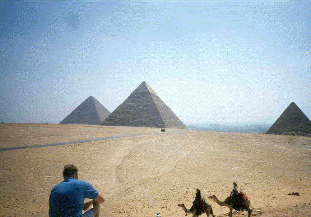 Author on the Giza Plateau Cairo
